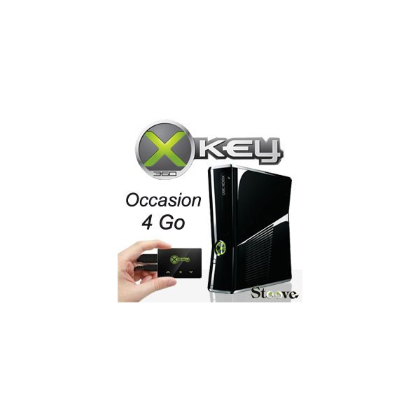 xbox 360 slim 4go xkey x360key v3 d 39 occasion. Black Bedroom Furniture Sets. Home Design Ideas