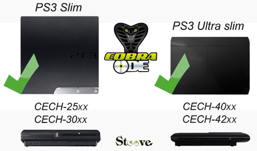 Cobra ode QSV v5 compatible ps3 slim et ultra slim.