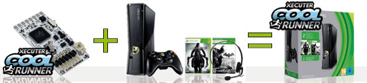 Pack xbox 360 250 go plus glitch Steeve console