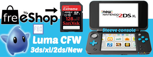 Flash installation du cfw luma sur 3ds/xl et new 2ds xl