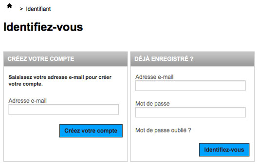 Compte client Steeve console.