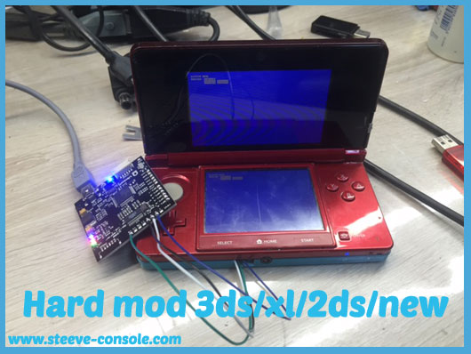 Flash 3ds/2ds/new via l'installation d'un hard mod sur version 11;4 et 11.5.